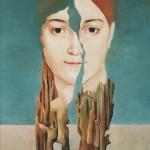 Madame Devaugay,olej,56x42cm,1999