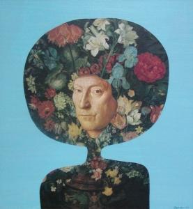 Květoslav,kolážolej,34x32,2001