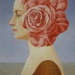 Růže portrét,olej,63x47 cm,1990
