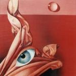 Rudé moře,olej, 63x42 cm,1991, /E.Jelínková-Pardubice/