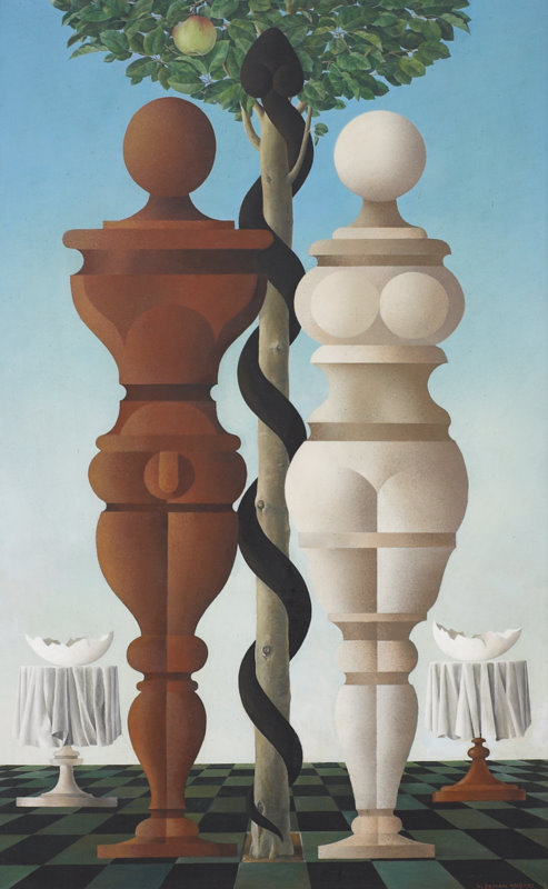 Adam a Eva,olej,157x96 cm,1969-70