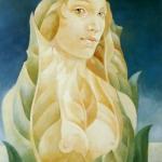 Jarní motiv,olej,70x50,1999