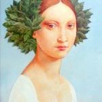 Dívka s rotolestí 1989,olej,70x50,1989