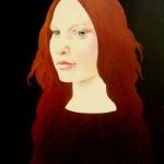 Hnědý portrét,olej,63x47,1994