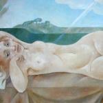 Ležící akt,olej,65x100,1996