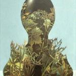 Černoška,olej a koláž, 45x35,2000