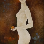 Eva, olej, 65x42 cm, 2002