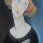 Zasněná,olej,65x42,2009