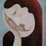 Smutek,olej,26x22,2010