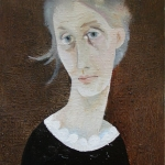 Virginie Wolfová,olej,35x25,2004