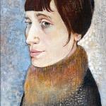 Anna Achmatovová,olej35x25,2004