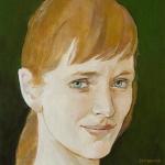 Aňa Geislerová,olej,25x24,2005