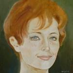 Marléne Jobert,olej,25x24,2005