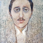 Marcel Proust,olej,35x25,2004