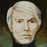 Andy Warhol,olej,25x24,2005